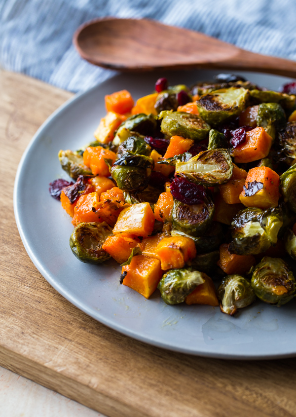 roasted-brussels-sprouts-and-squash-with-dried-cranberries-and-dijon-vinaigrette-6